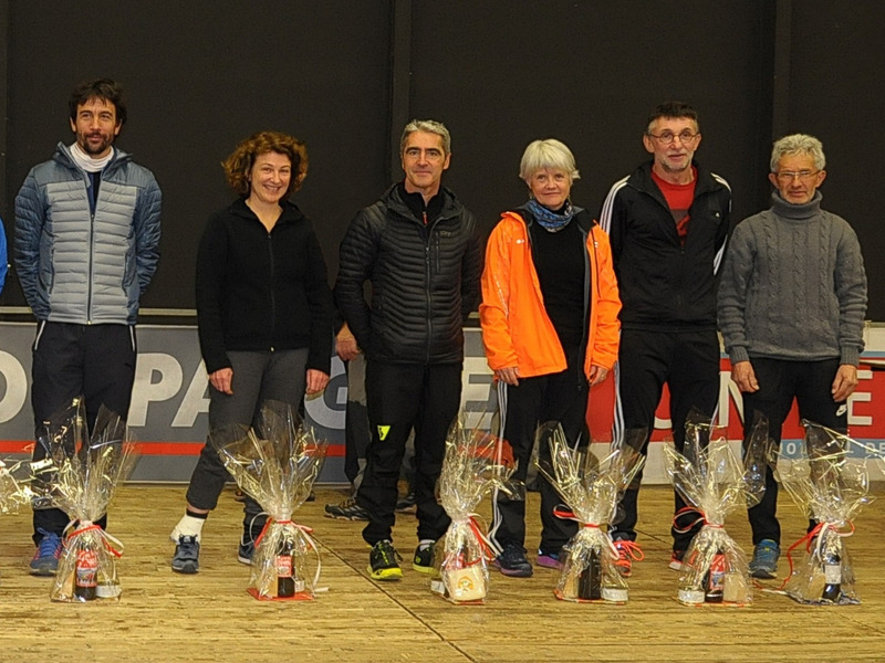 PODIUM PAR CATEGORIE DU TRAIL 12,5 KM